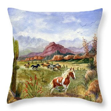 Don't Fence Me In Part One Throw Pillow