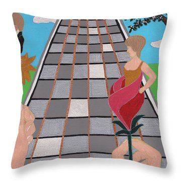Don't Get Strung Out Throw Pillow by Barbara St Jean