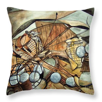 Don't Give Up Throw Pillow by Laneea Tolley
