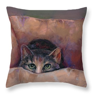 Don't Let The Cat Out Of The Bag Throw Pillow