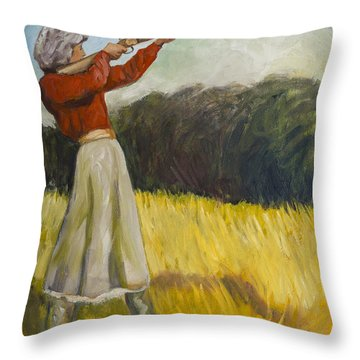 Don't Mess With Mama Throw Pillow