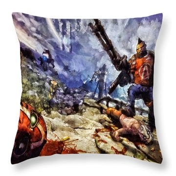 Don't Mess With The Gunserker Throw Pillow by Joe Misrasi