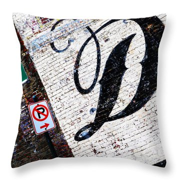 Don't Park Throw Pillow by Leon Hollins III