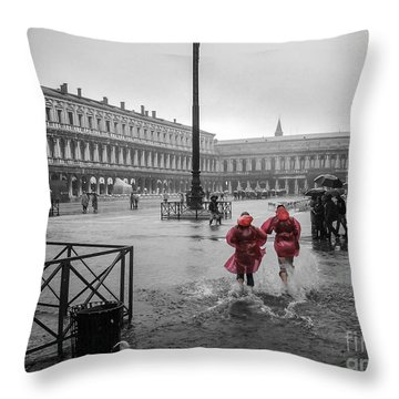 Don't Postpone Joy Throw Pillow by Peta Thames