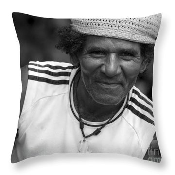 Don't Worry - Be Happy Throw Pillow by Heiko Koehrer-Wagner