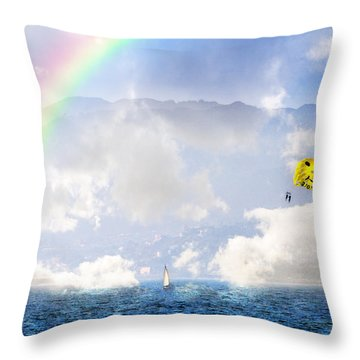 Dont Worry Be Happy Throw Pillow
