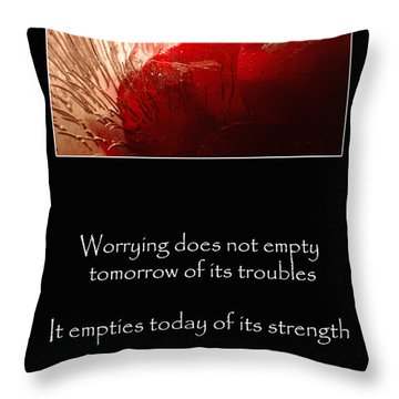 Don't Worry Throw Pillow by Randi Grace Nilsberg