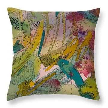 Doodles With Abstraction Throw Pillow