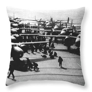 Doolittle's Raider Planes Throw Pillow