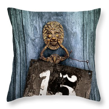 Door 15 Throw Pillow by Carlos Caetano