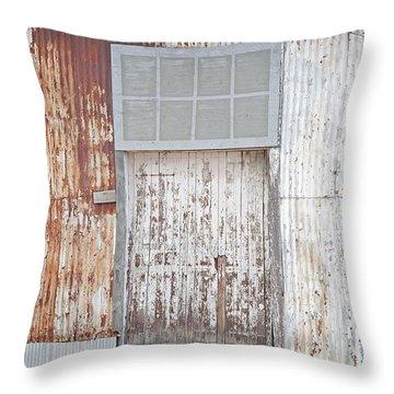 Throw Pillow featuring the photograph Door 2 by Minnie Lippiatt
