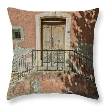 Door And Shadow Throw Pillow