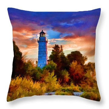 Door County Cana Island Wisp Throw Pillow