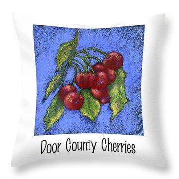 Door County Cherries Throw Pillow