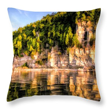 Door County Ellison Bay Bluff Throw Pillow