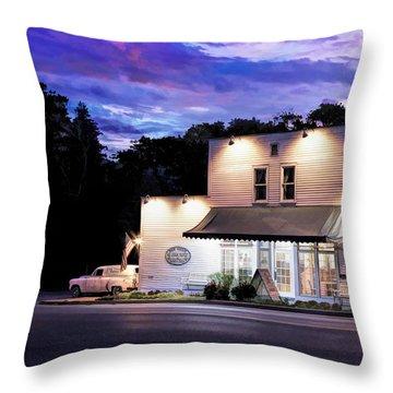 Door County Ice Cream Factory Throw Pillow