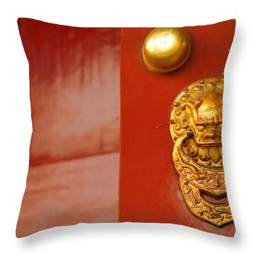 Door Handle Throw Pillow by Sebastian Musial