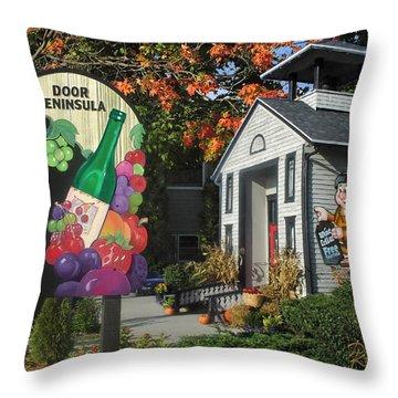 Door Peninsula Winery Throw Pillow
