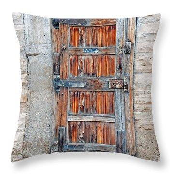 Throw Pillow featuring the photograph Door Series by Minnie Lippiatt