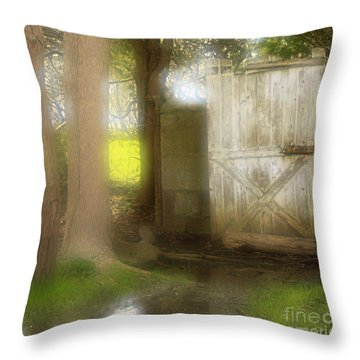 Door To Other Realms Throw Pillow by Inspired Nature Photography Fine Art Photography