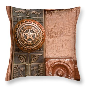 Door To Texas State Capital Throw Pillow