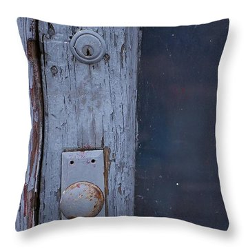 Throw Pillow featuring the photograph Door To The Past by Randy Pollard