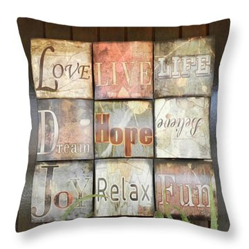 Door With A Message Throw Pillow by Leana De Villiers