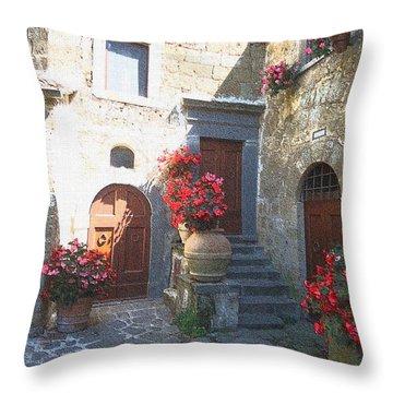 Doors In Bagnoregio Throw Pillow by Barbie Corbett-Newmin