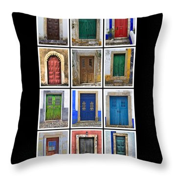 Doors Of Portugal Throw Pillow