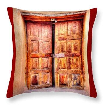 Doors To The Inner Santuario De Chimayo Throw Pillow