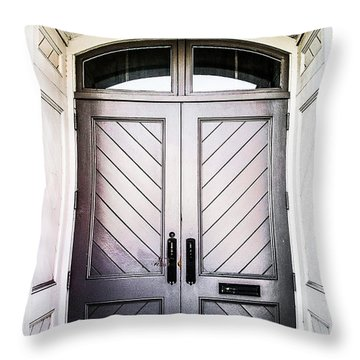 Doorway At Morris Avenue Throw Pillow by Shelby  Young