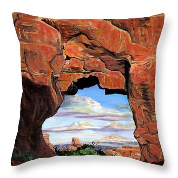Doorway To Enchantment Throw Pillow