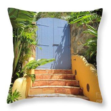 Doorway To Paradise Throw Pillow by Fiona Kennard