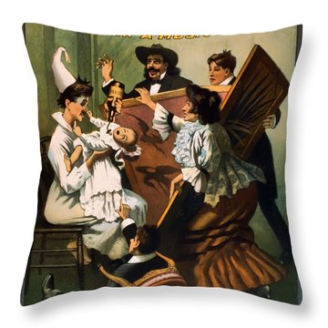 Doping The Baby Throw Pillow by Terry Reynoldson