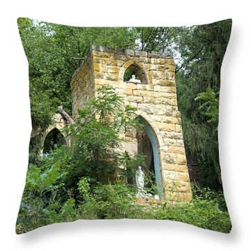 Dorchester Grotto Throw Pillow by Bonfire Photography