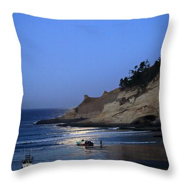 Dories At Dawn Throw Pillow