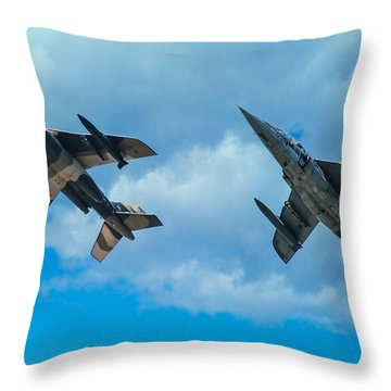 Dornier Alpha Jets Throw Pillow by Bianca Nadeau