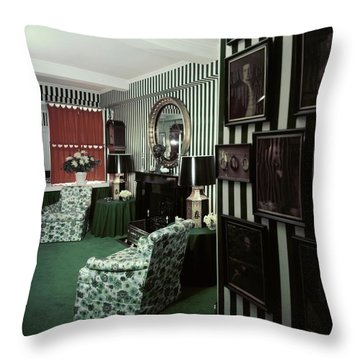 Dorothy Draper's Study Throw Pillow