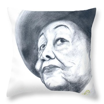 Dorothy Height Throw Pillow by Emmanuel Baliyanga