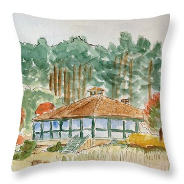 Dorrs Pondhouse Throw Pillow