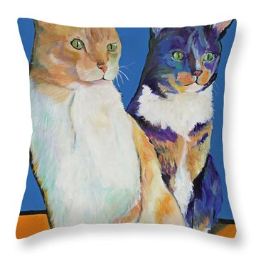 Dos Amores Throw Pillow by Pat Saunders-White