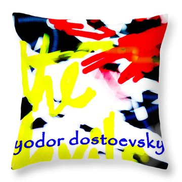 Dostoevsky's The Devils Poster  Throw Pillow