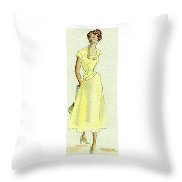 Summer Sunshine Throw Pillow by Beverly Solomon Design