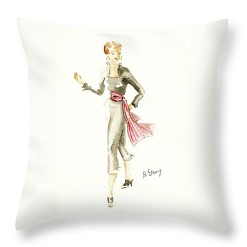 Tango Throw Pillow by Beverly Solomon Design