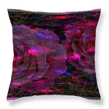 Dots Of Light And Roses Throw Pillow by Barbara Griffin
