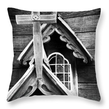 Double Cross Throw Pillow