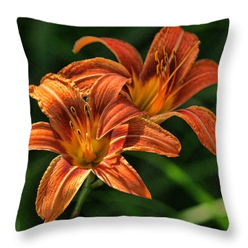 Double Day Lilly Throw Pillow
