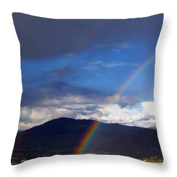 Throw Pillow featuring the photograph Double Delight by Kathy Bassett