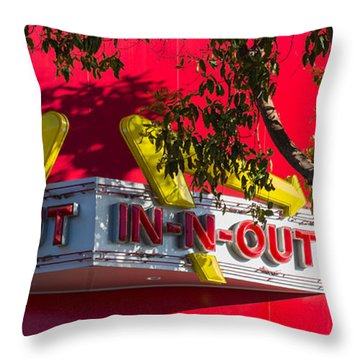 Double Double With Cheese Animal Style Yum Throw Pillow