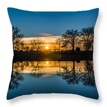 Double Down Throw Pillow by Randy Scherkenbach